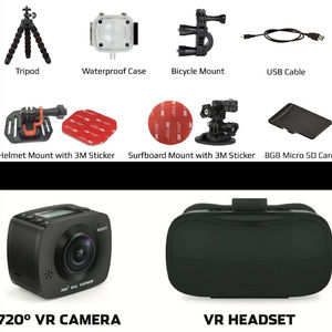 NEW! 720 VR ACTION CAMERA & HEADSET by Black Fin NWT
